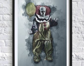 IT (TV) - Pennywise 'Watercolor' A4 Print