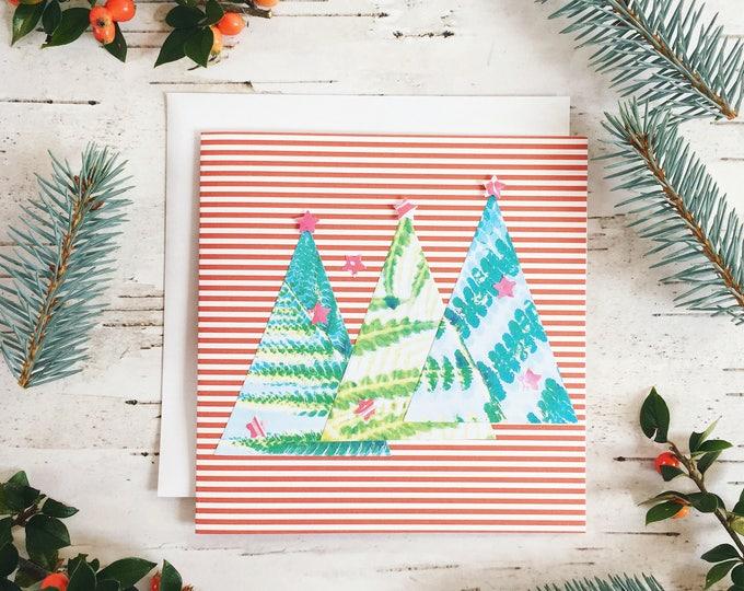 festive foliage Christmas tree card