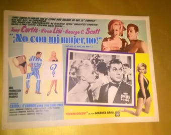 Vintage Spanish Movie Poster Not With My Wife, You Don't ! 1966*****1960's*****