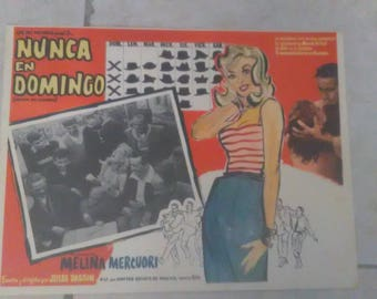 Vintage Never Say Sunday Spanish Movie Poster 1961*****1960's*****