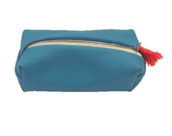 Turquoise lined pouch for back to school!