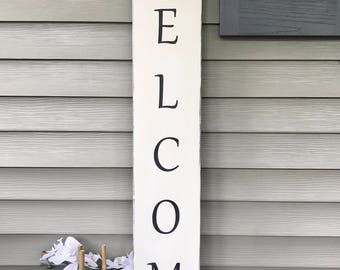 Vertical Wall Decor vertical welcome sign | etsy