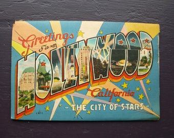 Greetings from Hollywood California Fold Out Post Cards - The City of Stars