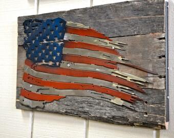 Tattered American Flag ( Wood)