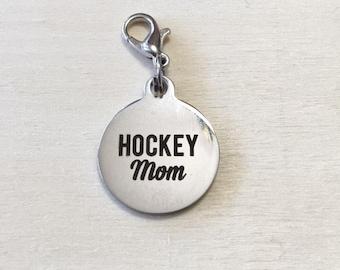 Hockey Mom Stitch Marker | Progress Keeper | Zipper Pull | Planner Charm