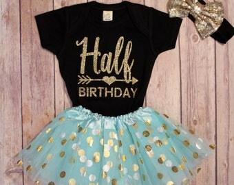 Half Birthday girls, 1/2 Birthday Shirt, Birthday Bodysuit, Half Birthday, Half Birthday, 1/2 Birthday, Girls Half Birthday, Girls 1st
