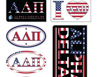 "ALPHA DELTA PI ""America"" Sticker Sheet"