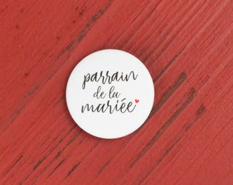 Badge sponsor of the bride wedding