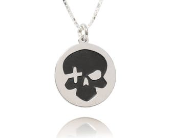 Mens Skull Necklace, Human Skull Necklace, skull for women, Jewelry for men, Gothic jewelry, pirate jewelry, ladies skull, Skull Jewelry