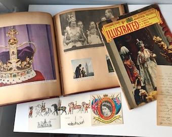 Queen Elizabeth's coronation Scrap book, 1950's