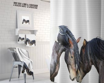 Horse Shower Curtain Etsy