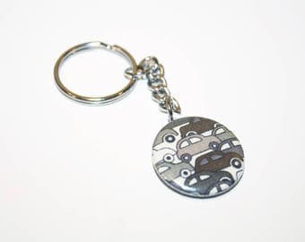 Keyring 25mm Brown Liberty Cars * limited EDITION *.
