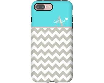 Monogram iPhone 7 Plus case, chevron iPhone 7 case, iPhone 8 Plus case, monogram iPhone 8 case, iPhone X case, iPhone 6s Plus case/6s case