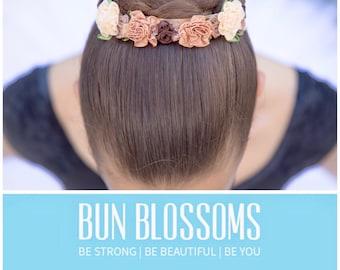"""Bun Blossoms """"Toffee Cream"""" Allongé Collection Bun Wrap"""