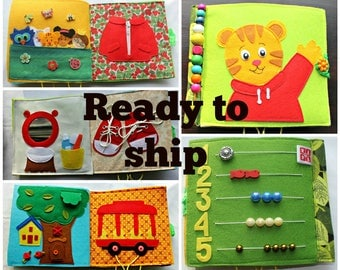 Quiet book, Daniel Tiger Neighborhood inspired, READY TO SHIP for toddlers, age 2-5years