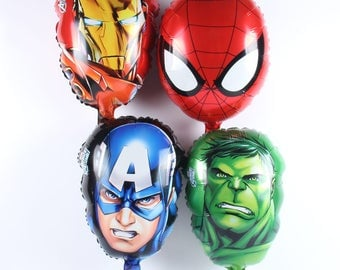 NEW The Avengers Alliance Iron  Head Balloons Foil Balloon Party Decorations hero baloes 4pcs/lot