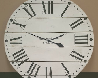 42in Maxwell farmhouse wall clock - Oversized wall clock - large clock - big clock - farmhouse decor