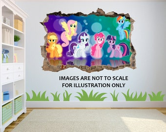 My Little Pony 3D Effect Graphic Wall Vinyl Sticker Decal D2