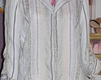 Stunning chic brand revisited way shabby blouse
