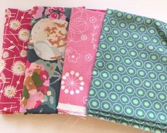 Pocket full of Posey fat quarter set, bachelorette fusion, art gallery fabric, Kimberbell doodles,