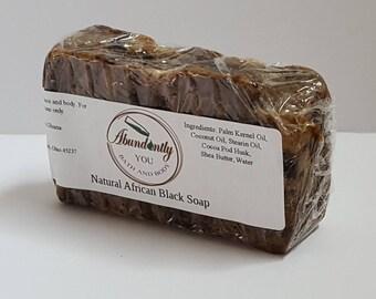 African Black Soap | Natural | 5 oz Bar Soap | Made in Ghana