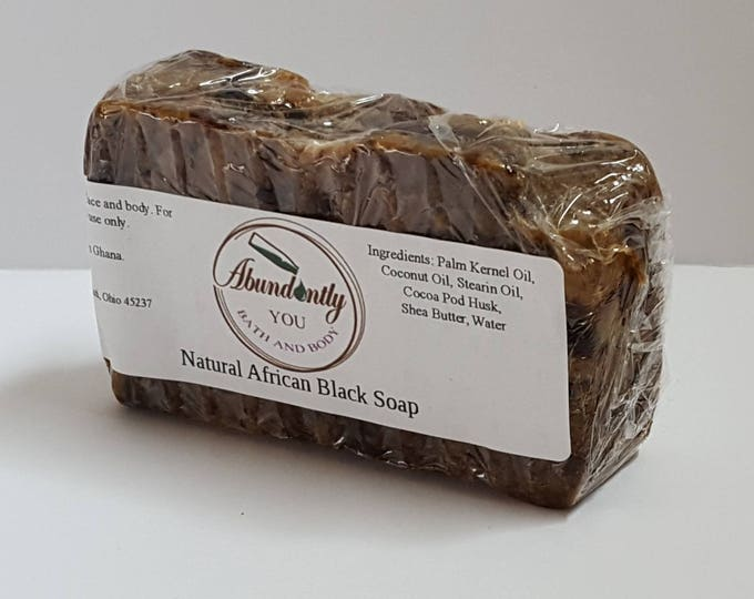 African Black Soap | Natural | 5 oz Bar Soap | Made in Ghana