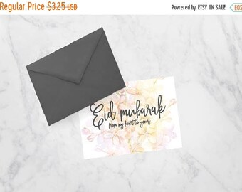 RAMADAN SALE Eid Mubarak Printable Greeting Card from my Heart to Yours, Eid Kareem, Happy Eid Marble, Pink and Floral Card for Muslims
