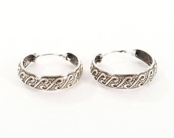 Sterling Silver Oxidised Earrings