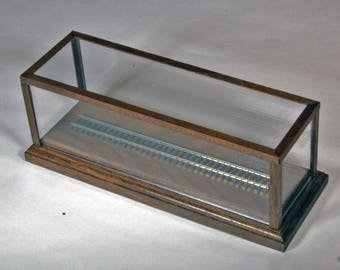 "N-Scale 6"" Track Display Case in Native Walnut by Oak Hill Crafts"