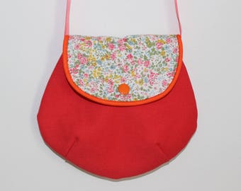 Small bag coral and liberty for girl