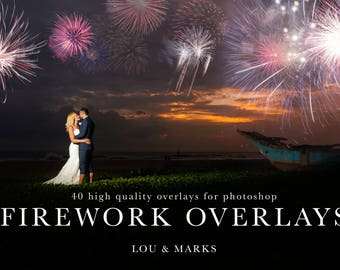 Firework Overlays 40 Photoshop Overlays Professional Photo Editing for Portraits, Newborns, Weddings By LouMarksPhoto