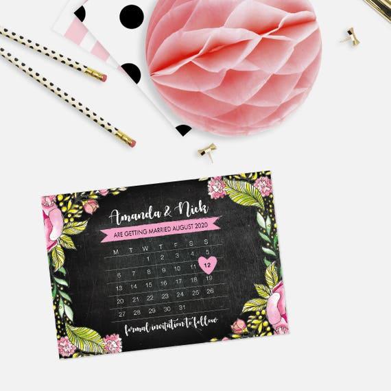 Calendar save the date postcards, Calendar save the date cards, Save our date cards, Rustic save the date, Wedding announcement postcard, A6