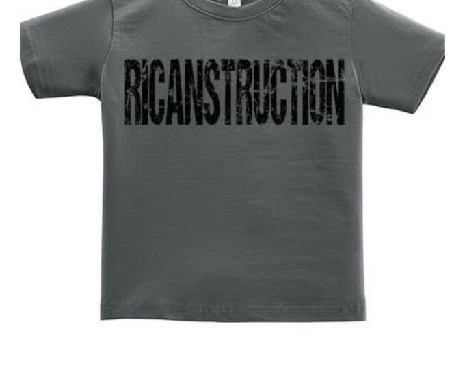 RICANstruction Toddlers tshirts for the reconstruction of Puerto Rico