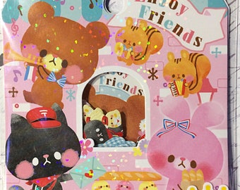Enjoy Friends sticker sack - kawaii sticker sack - Crux - sticker flakes