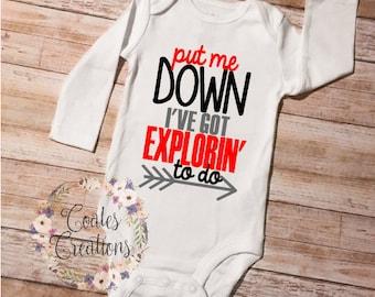 Exploring onesie//Funny baby onesie//baby shower gift//gerber onesie