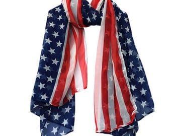 American Flag Scarf & Headband Set
