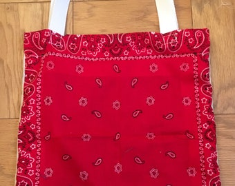 Red Bandana and Canvas Tote - Cowboy Chic