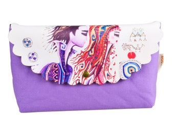 BiggDesignLove Denim Make Up Bag