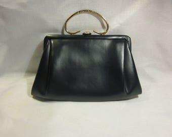 Vintage Ande dark navy evening bag