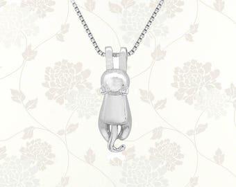 Cat Necklace, Cat Pendant, Cat Lover Gift, Cat Gifts, Cat Jewellery, Cat Jewelry, Hanging Cat, Kitten Necklace, Animal Lover Jewelry Gift
