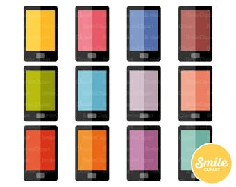 Black Smartphone Clipart Illustration for Commercial Use | 0324