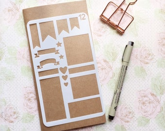 Bullet Journal Stencil #12 - Planner, Journal, Craft, Scrapbooking, Decoration