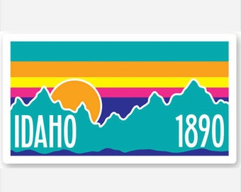 Idaho Mountain Sunset 1890 - Sticker/Decal