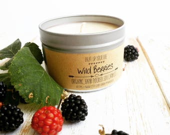 Wild Berries Soy Candle, Berries Soy Candle, Berries Candle, Scented Soy Candle, Organic Soy Candle, Raspberries Candle, Blueberries Candle