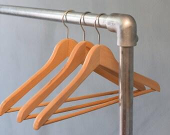 Urban Industrial Freestanding Clothes Rail, Display, Shop, Galvanised Steel