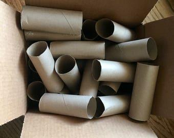 50 Empty Toilet Paper Rolls Clean