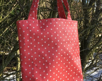 Polka Dot - Oilcloth Market Tote Bag