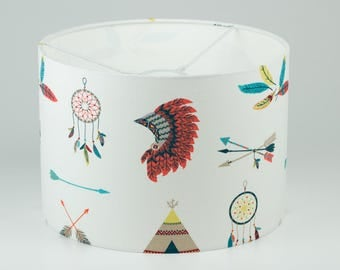 lampshade indian / cowboy / wild west