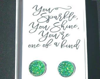 Teacher gift- thank you gift- teacher appreciation- graduation gift- gift for teacher- druzy earrings, gift under 10, sparkly earrings