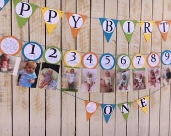 First Birthday Banner Set, Decorations   Boy Birthday Banner   Birthday Party Decoration Set